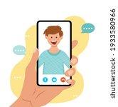 video call vector illustraton.... | Shutterstock .eps vector #1933580966