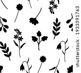 seamless pattern plants flowers ... | Shutterstock .eps vector #1933591763