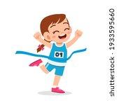 Cute Little Girl Run In Race...