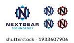 modern futuristic letter n gear ...   Shutterstock .eps vector #1933607906