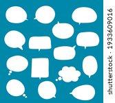 set of blank white speech...   Shutterstock .eps vector #1933609016