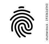 fingerprint vector icon. touch...