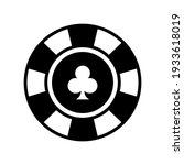 poker chips. clubs. casino...   Shutterstock .eps vector #1933618019