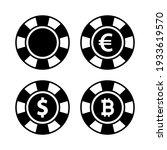 poker chips vector set. dollar  ...