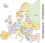 highly detailed europe... | Shutterstock .eps vector #193362044