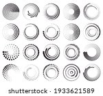 circle dotted speed lines....   Shutterstock .eps vector #1933621589