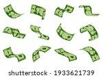 falling dollars bills. cash... | Shutterstock .eps vector #1933621739