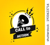 call to action. megaphone with...