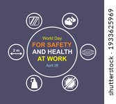 world day for safety and health ...   Shutterstock .eps vector #1933625969
