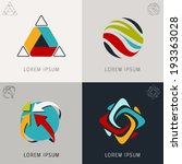 abstract logo icons set and... | Shutterstock .eps vector #193363028