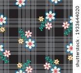 seamless gingham pattern.... | Shutterstock .eps vector #1933644020