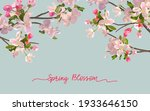 spring blossom background with... | Shutterstock .eps vector #1933646150
