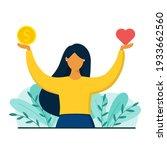 girl decides between career and ...   Shutterstock .eps vector #1933662560