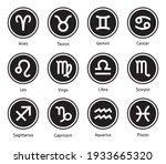 zodiac horoscope signs vector... | Shutterstock .eps vector #1933665320
