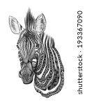 creative zebra pencil sketch | Shutterstock . vector #193367090