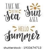 take me to the sea  sun and sea ... | Shutterstock .eps vector #1933674713
