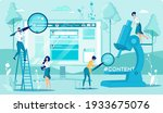 content analysis. researching... | Shutterstock .eps vector #1933675076