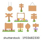 vector wooden sign board and... | Shutterstock .eps vector #1933682330