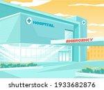 modern hospital building...   Shutterstock .eps vector #1933682876