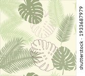 monstera. seamless pattern with ... | Shutterstock .eps vector #1933687979