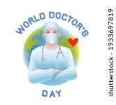 world doctor's day vector...   Shutterstock .eps vector #1933697819