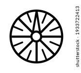 Sundial Outline Icon. Sundial...