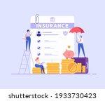 financial insurance. people... | Shutterstock .eps vector #1933730423