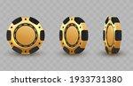 set of 3d gold and black poker... | Shutterstock .eps vector #1933731380