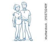 happy young mixed couple ...   Shutterstock .eps vector #1933732409