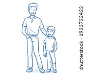 happy young father in casual...   Shutterstock .eps vector #1933732433
