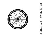 bicycle wheel on a white...   Shutterstock .eps vector #1933742123