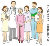 medical staff and the elderly  | Shutterstock . vector #193375748