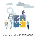 concept puzzle of financial... | Shutterstock . vector #1933760006