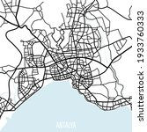 vector city map. antalya...   Shutterstock .eps vector #1933760333
