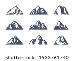 hand drawn mountain isolated.... | Shutterstock .eps vector #1933761740