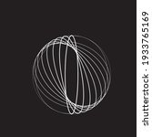 lines in circle form . spiral... | Shutterstock .eps vector #1933765169