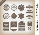 vintage premium quality labels... | Shutterstock .eps vector #193376816