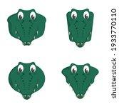 Set Of Cartoon Crocodiles....