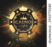 black poker chip  gold letters... | Shutterstock .eps vector #1933775180