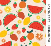 seamless pattern with cute... | Shutterstock .eps vector #1933787609