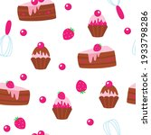 chocolate muffins  muffins and...   Shutterstock .eps vector #1933798286