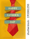 father's day poster with big... | Shutterstock .eps vector #193381250