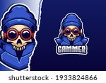 cool skull e sport logo template | Shutterstock .eps vector #1933824866