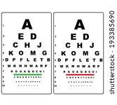 eye test chart  | Shutterstock .eps vector #193385690