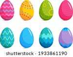 collection of colorful easter... | Shutterstock . vector #1933861190