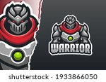 robot warrior e sport game logo ... | Shutterstock .eps vector #1933866050