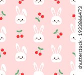 seamless pattern with rabbit... | Shutterstock .eps vector #1933866473