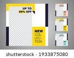 new set of editable minimal... | Shutterstock .eps vector #1933875080