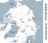 arctic region  gray political...   Shutterstock .eps vector #1933878803