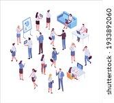 isometric business people...   Shutterstock .eps vector #1933892060